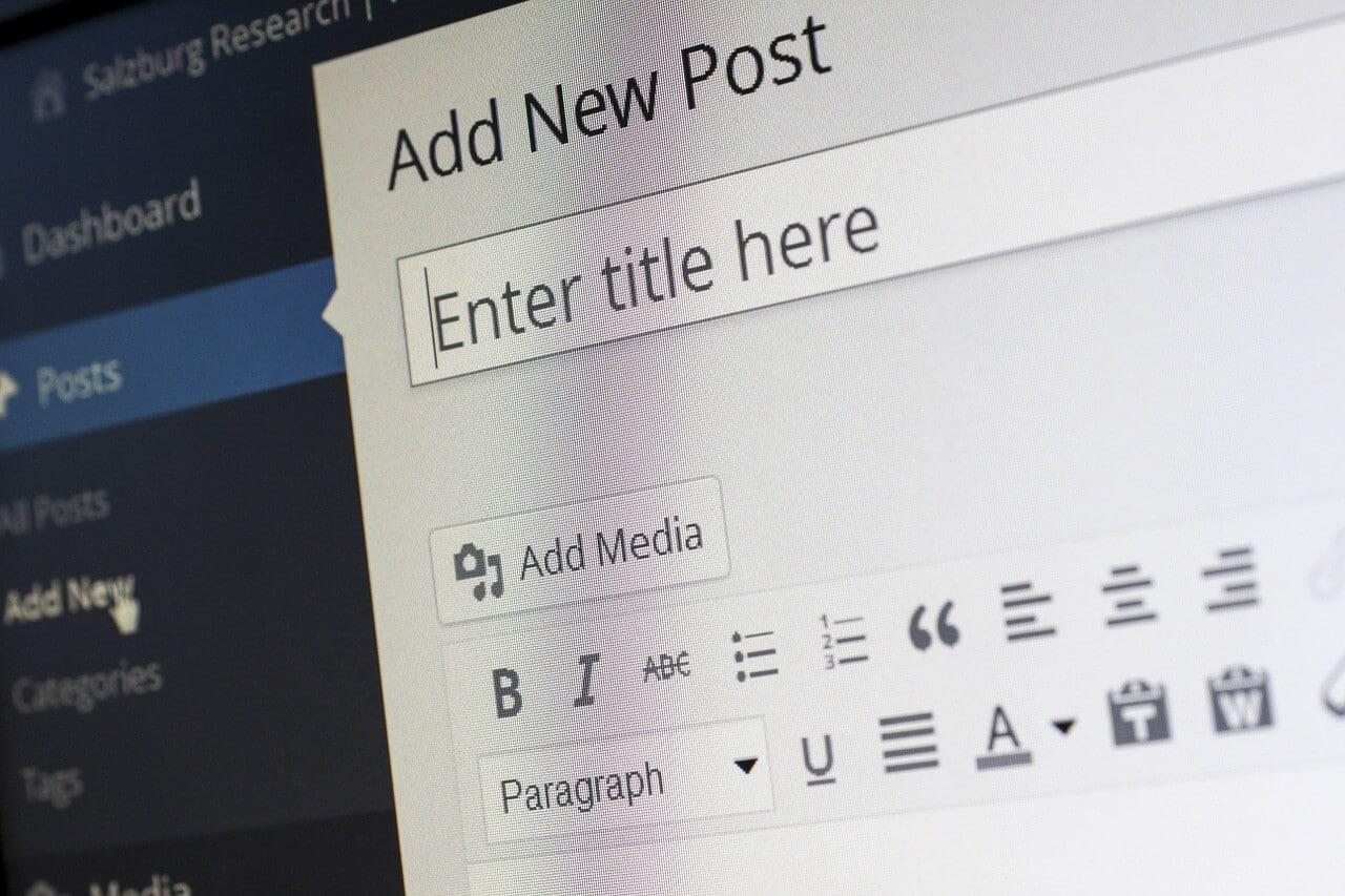 Image of Wordpress Add Post Page