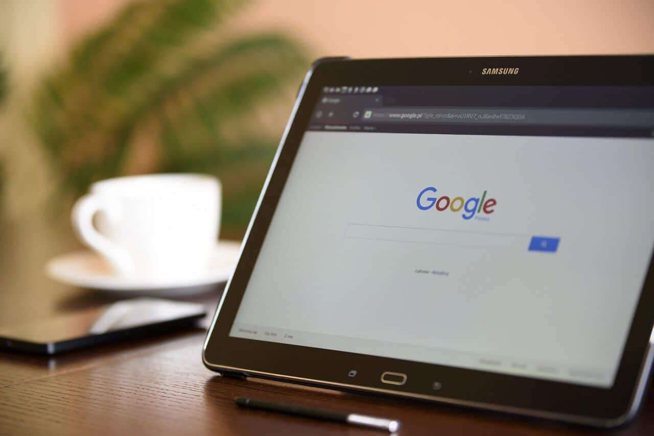 Google Search on Tablet