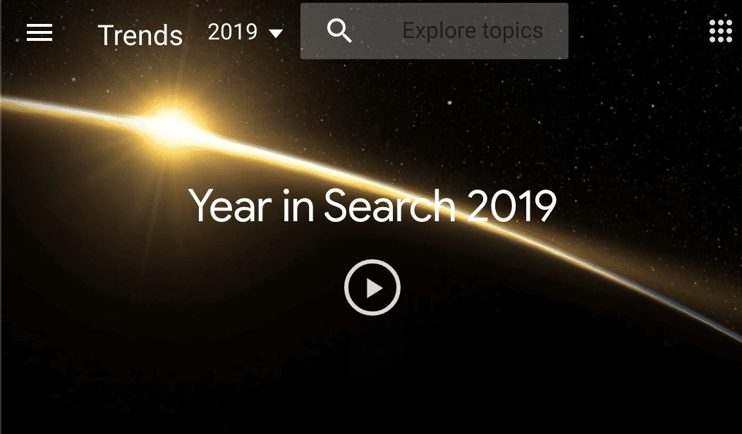 Google Trending Search 2019