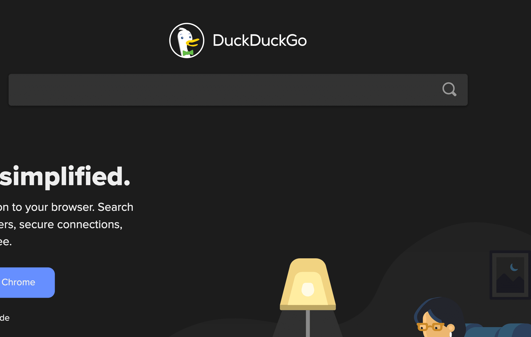 Screenshot of DuckDuckGo search