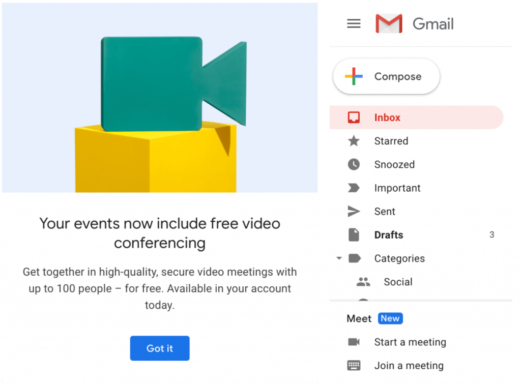 Google Meet for free